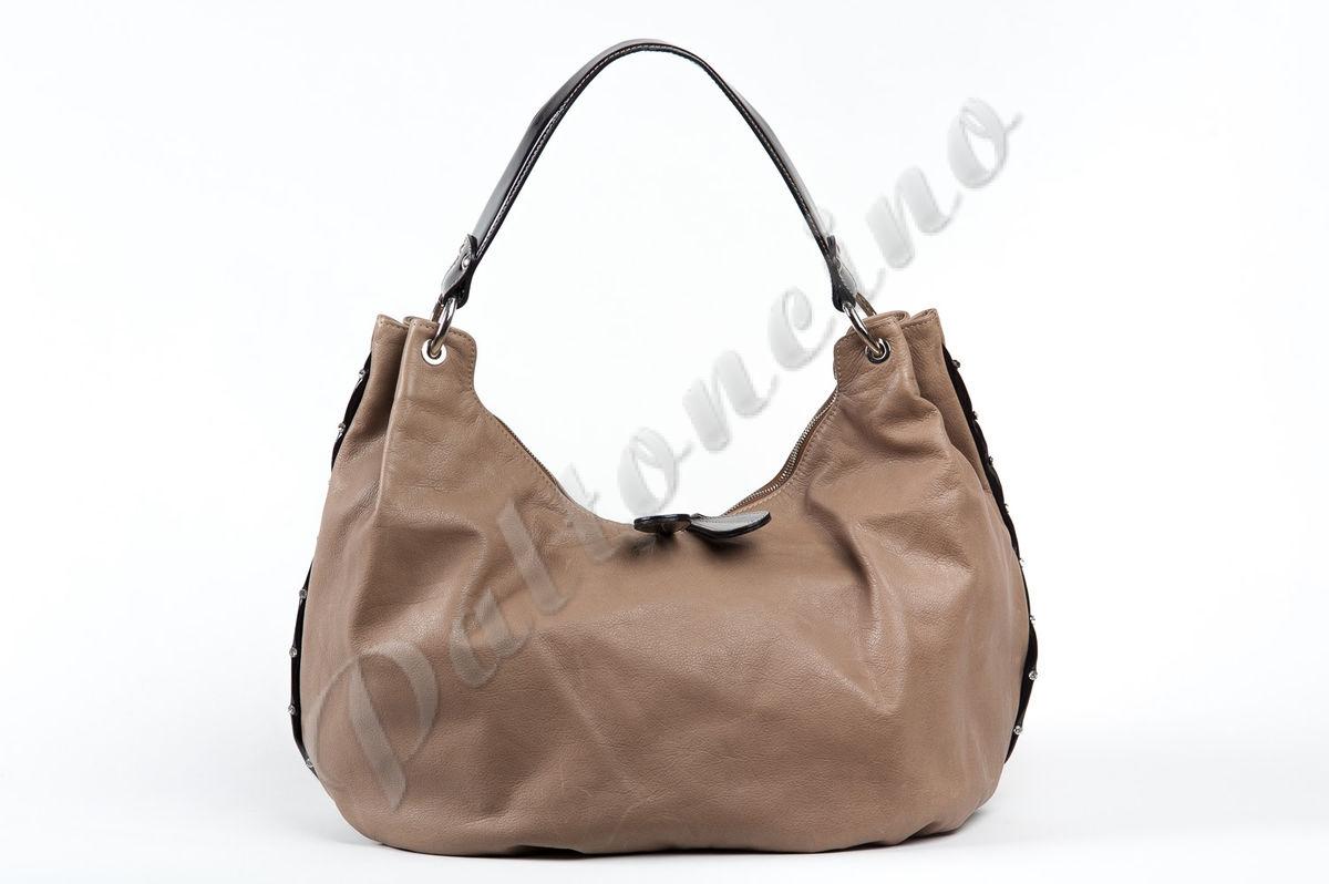 e6736c462f70 Сумка-мешок со стразами GFS-3364-IRETAU бежевая, купить сумку из Италии