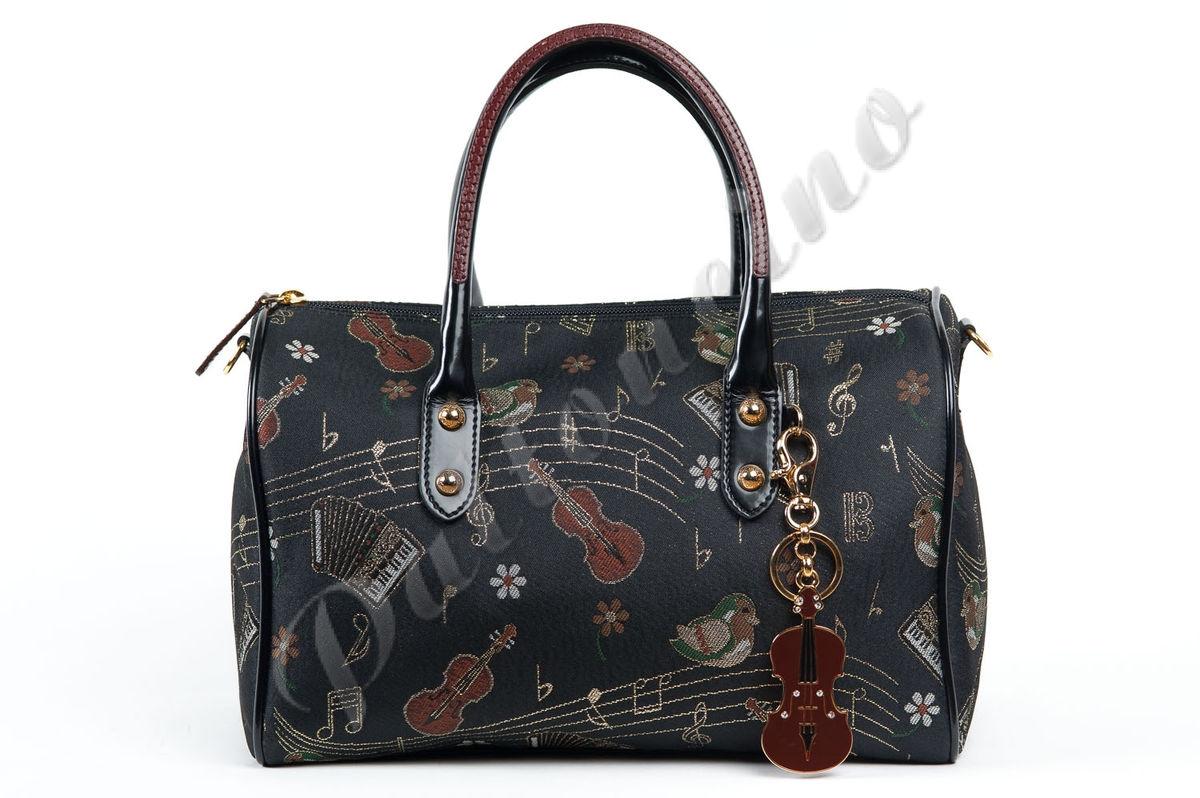 52757991bbec Сумка Braccialini Jacquard 205 B5723 чёрная, купить сумку из Италии